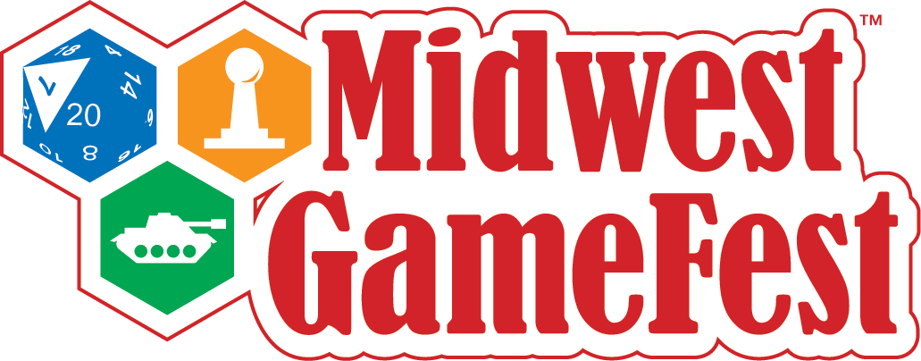 Midwest GameFest Logo with Icons