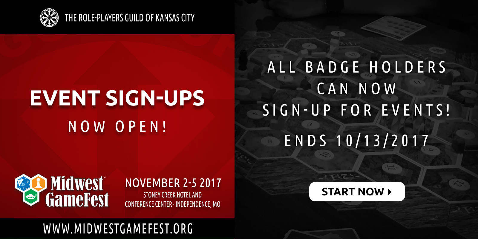 Event Sign-upS Now Open